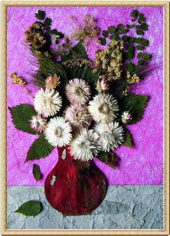 Поделка из цветов сухих 52