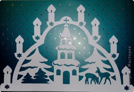 церковь в снегу Бумага