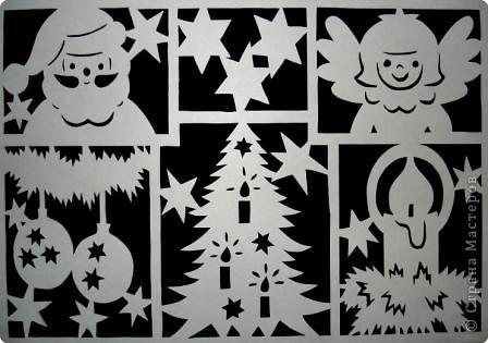 Этими простенькими картинками можно украсить окна к новому году. фото 2