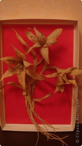 Бумагопластика: Букет прекрасных лилий фото 1