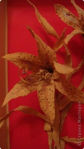 Бумагопластика: Букет прекрасных лилий фото 2
