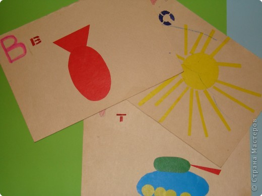 Раннее развитие Аппликация Азбука для малышей из геометрических фигур Бумага фото 1
