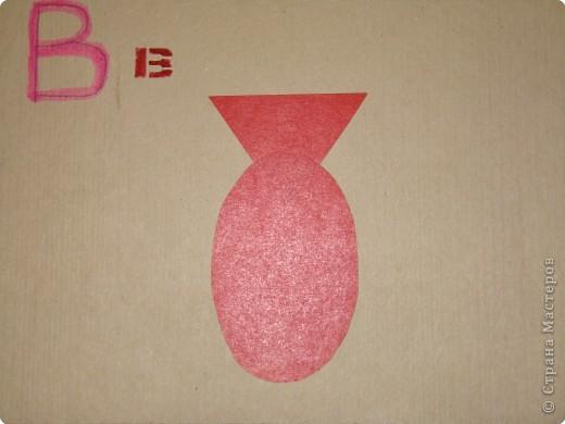 Раннее развитие Аппликация Азбука для малышей из геометрических фигур Бумага фото 2