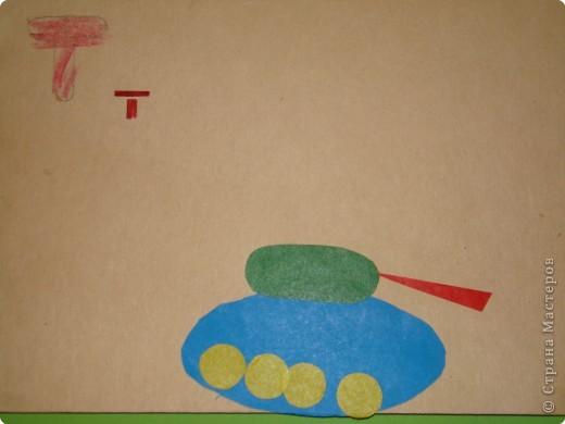 Раннее развитие Аппликация Азбука для малышей из геометрических фигур Бумага фото 4