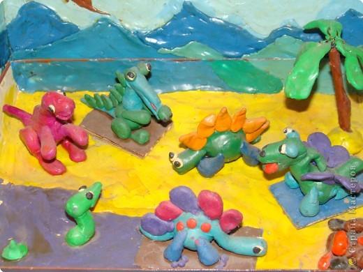 Динозаврики. Работа сына. Ему  было 6 лет. Разные виды. фото 2