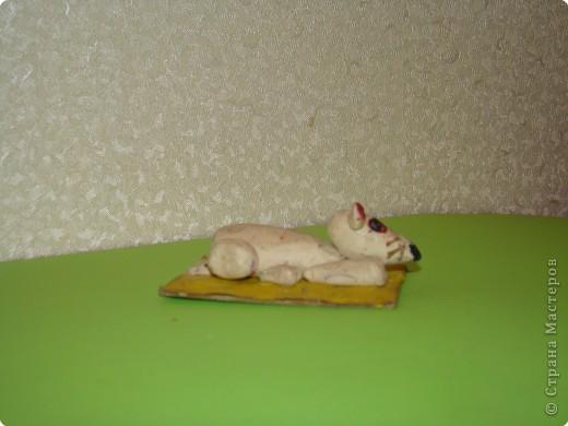Белая мышка. Работа сына, ему было 5 лет. Педагог Володина Е.В.