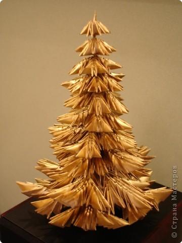 Оригами модульное: Моя елка