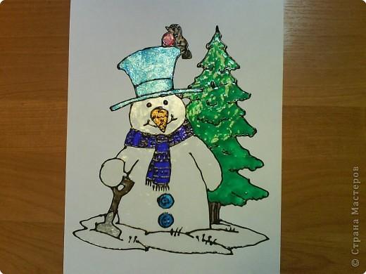 Вот такой получился снеговик, фото 1