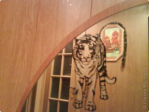 Вот такой тигр встречает нас дома