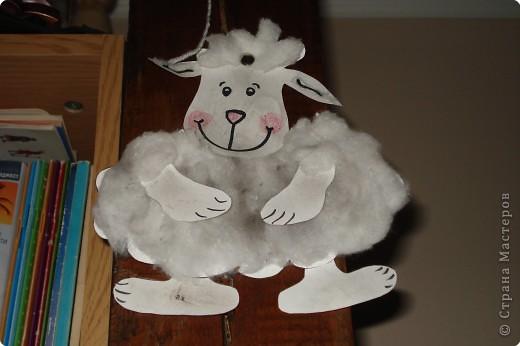 Аппликация: овечка