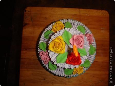 Оригами модульное: Тортик из модулей фото 2