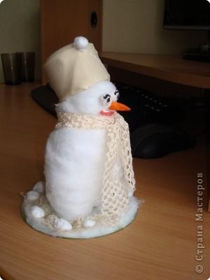 Вот какой получился у меня снеговик! фото 2