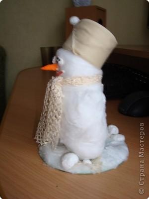 Вот какой получился у меня снеговик! фото 4