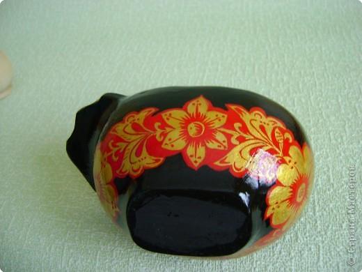 Ну, мастерицы, знакомьтесь: черный лебедь, хохломская роспись.  фото 3