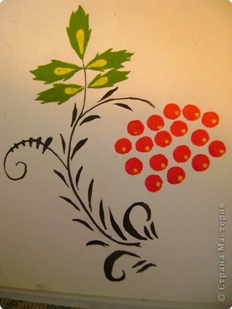 Вот, хочу показать некоторые фрагменты из моего альбома по хохломской росписи. Малина. фото 2