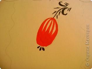 Вот, хочу показать некоторые фрагменты из моего альбома по хохломской росписи. Малина. фото 5