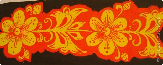 Вот, хочу показать некоторые фрагменты из моего альбома по хохломской росписи. Малина. фото 10
