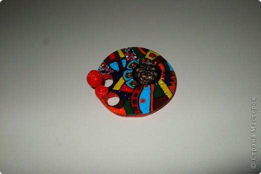 Лепка: этно-диско брошь фото 3