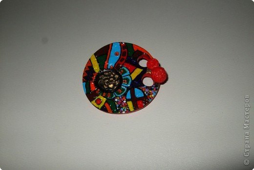 Лепка: этно-диско брошь фото 1