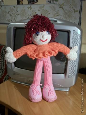 Вот девочки, выкладываю на ваш суд очередное мое творение - кукла Маринка. А башмачки я сделала по МК Ликмы.  фото 1