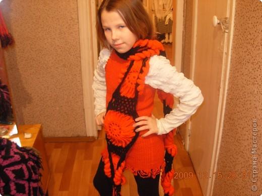 Вязание крючком: шарф