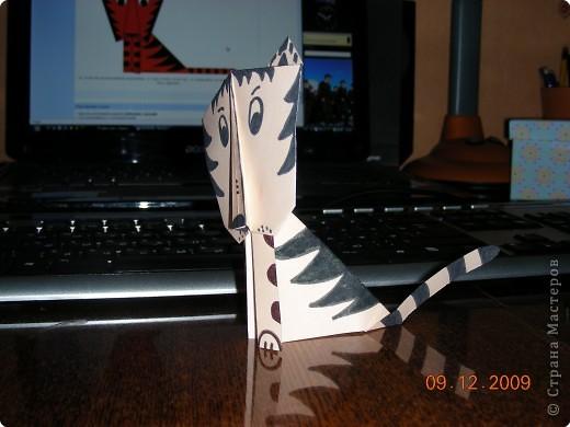 Оригами: Тигренок из бумаги фото 2