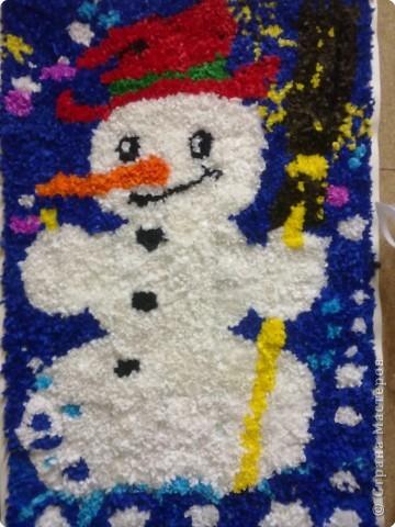 Торцевание: Веселый снеговик
