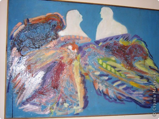 """В Италии я познакомилась с художницей Марией Вентурелли. У нее своеобразная техника рисования. хочу представить вам на обозрение некоторые картины. Эта картина называется """"Ангелы"""". На основу наклеена полиэтиленовая пленка, поверху нанесена краска фото 3"""