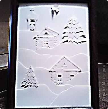 Обычно для работ использовала идеи из инета, но вот захотелось сделать Рождественскую картинку с использованием изображения наших изб и нашей природы, как получилось вам судить.