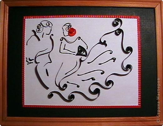 Квиллинг: Танцующая роза. Испанский этюд.