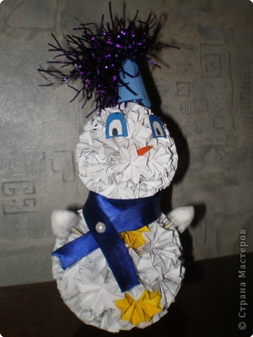Кусудама: Снеговик