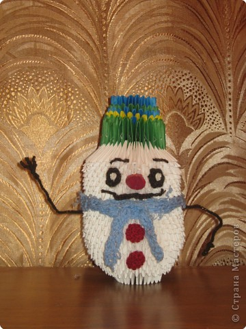 Наш снеговик.