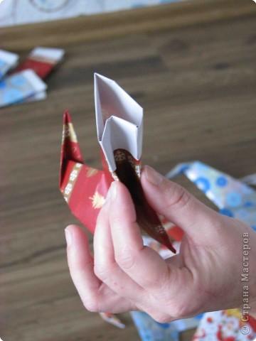 Во всем мире перед рождеством вешают чулок для подарков. Можно сделать оригамный  Рождественский чулок. фото 13