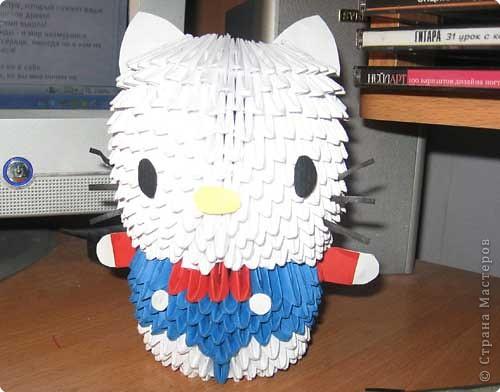 Оригами модульное: hello kitty