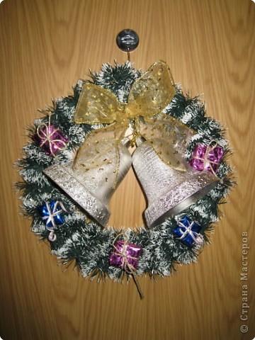 наши Рождественские венки из мишуры фото 4