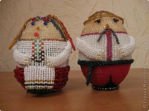 Бисероплетение: Дед Тарас и баба Мотря.