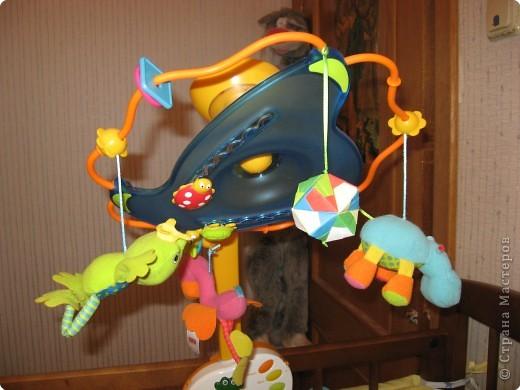 Из всем известных сонобиков сделала погремушку-растяжку на кроватку/коляску своему малышу. фото 4