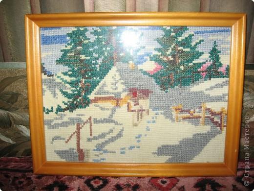 Вышивка крестом: Зимний пейзаж фото 2