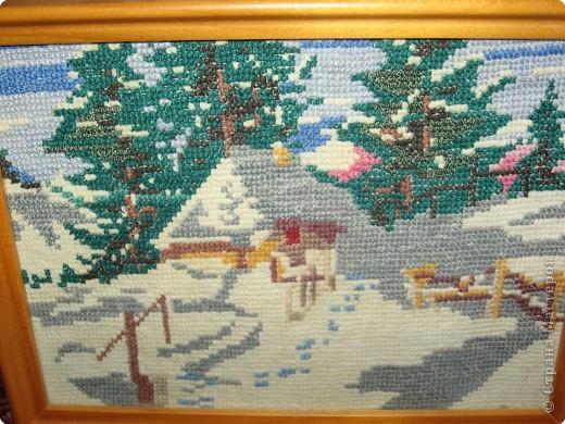 Вышивка крестом: Зимний пейзаж фото 1