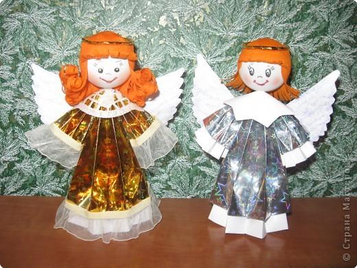 Ангелы своими руками из бросового материала 94
