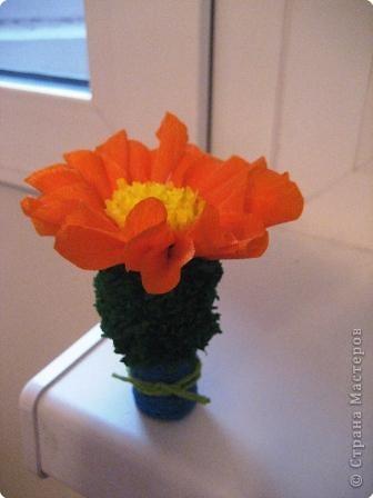 Торцевание на пластилине: кактус фото 1