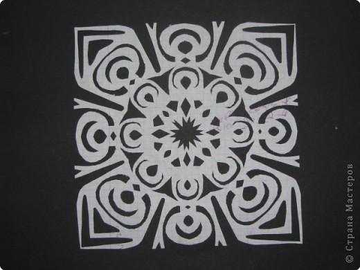 Вырезание, Вырезание симметричное, Вытынанка: обыкновенные снежинки 2