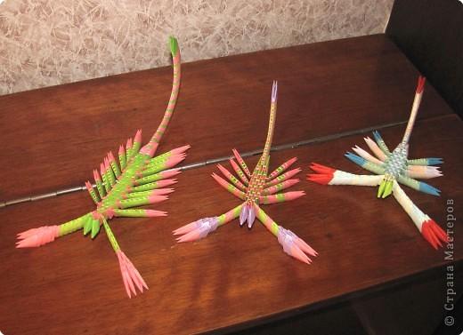 Оригами модульное: что осталось от павлина фото 3