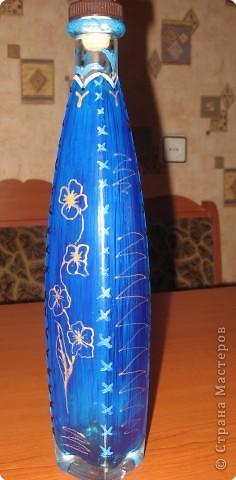 Роспись: бутылка
