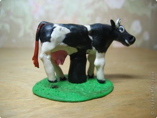 Лепка: Корова и теленок. (пластилин) фото 1