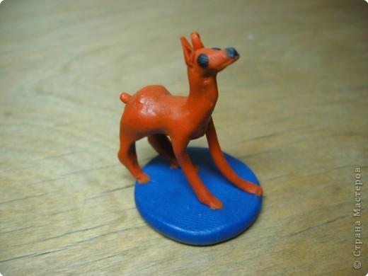 Лепка: Собака. (пластилин) 2Х2 см. фото 2