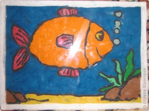 Лепка: Рыбка золотая