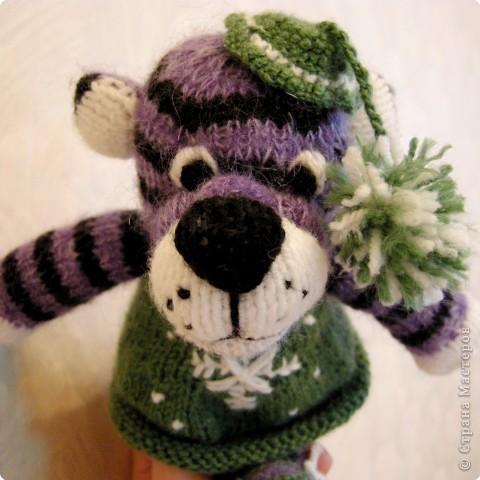 Вязание спицами: Тигрушка колокольчик фото 1