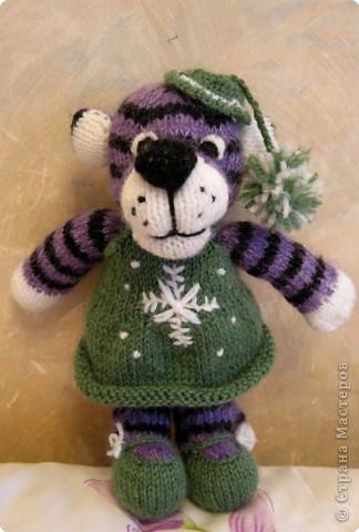 Вязание спицами: Тигрушка колокольчик фото 2