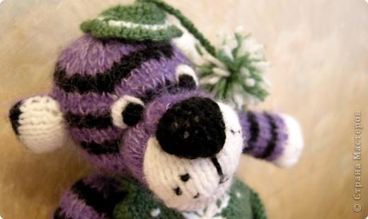 Вязание спицами: Тигрушка колокольчик фото 3
